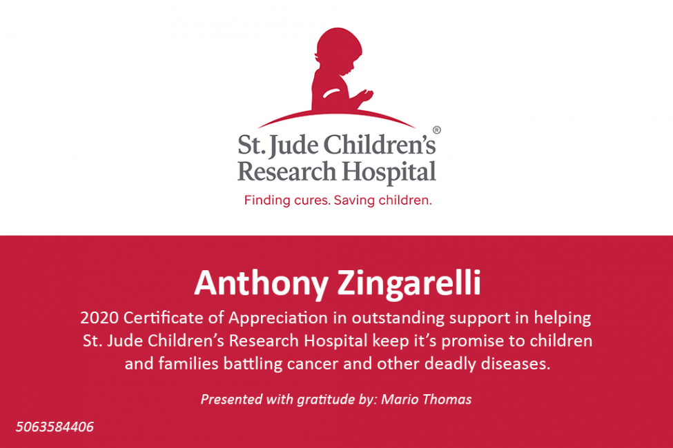 UnitedLLC Certifies in Helping St Jude Children's ResearchHospital